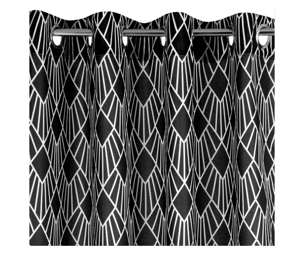 Draperie Kerry Black Rings 140x250 cm