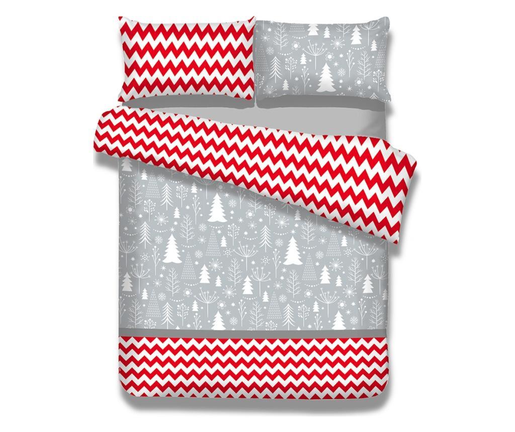 Set de pat Single Supreme Flannel Christmas Mess