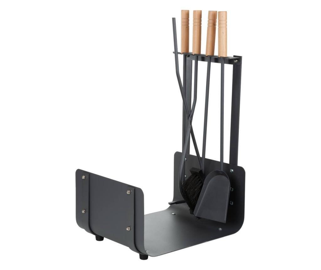 4-dijelni set za kamin s postoljem