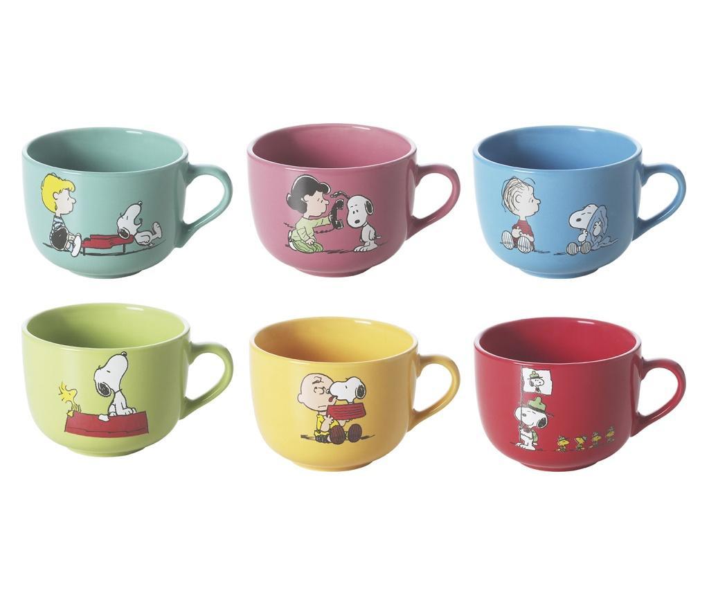 Set 6 šalice Snoopy