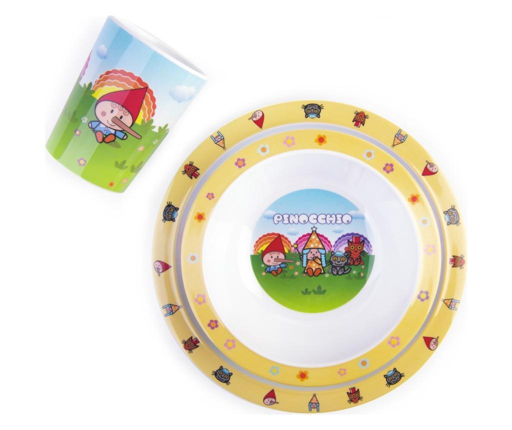 Set de masa pentru copii 3 piese Pinocchio