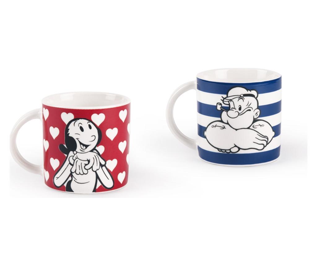 Set 2 cesti pentru cafea Olivia and Popeye 100 ml