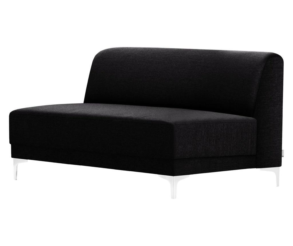 Canapea 2 locuri Allegra Black