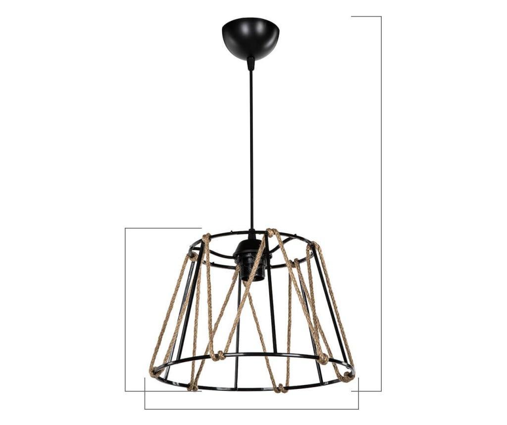 Závěsná lampa Balat Black