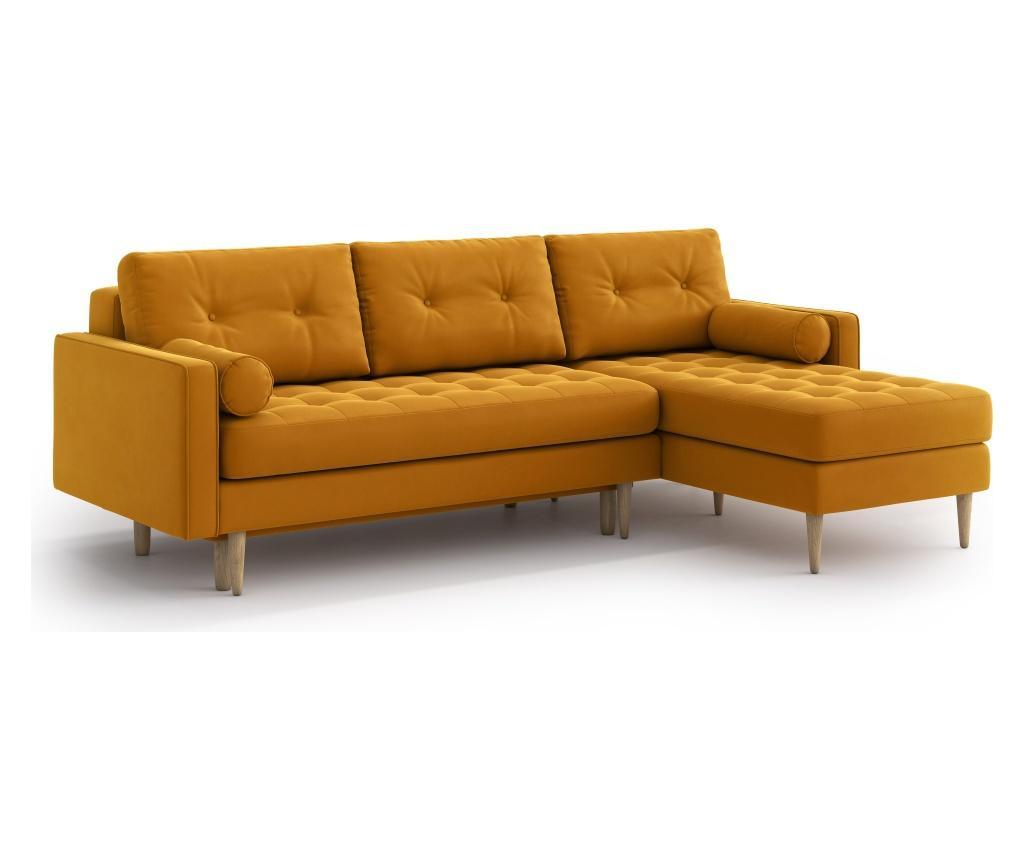Разтегателен ъглов диван Esme II Golden