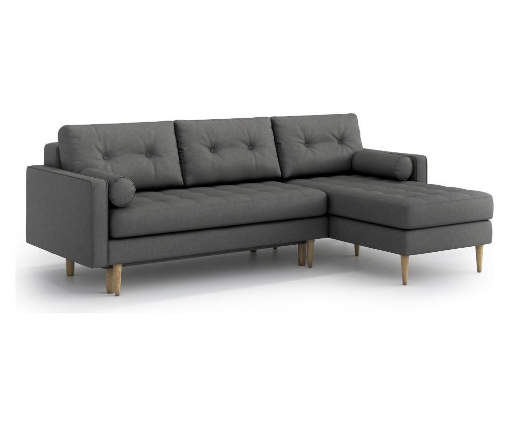 Разтегателен ъглов диван Esme II Grey