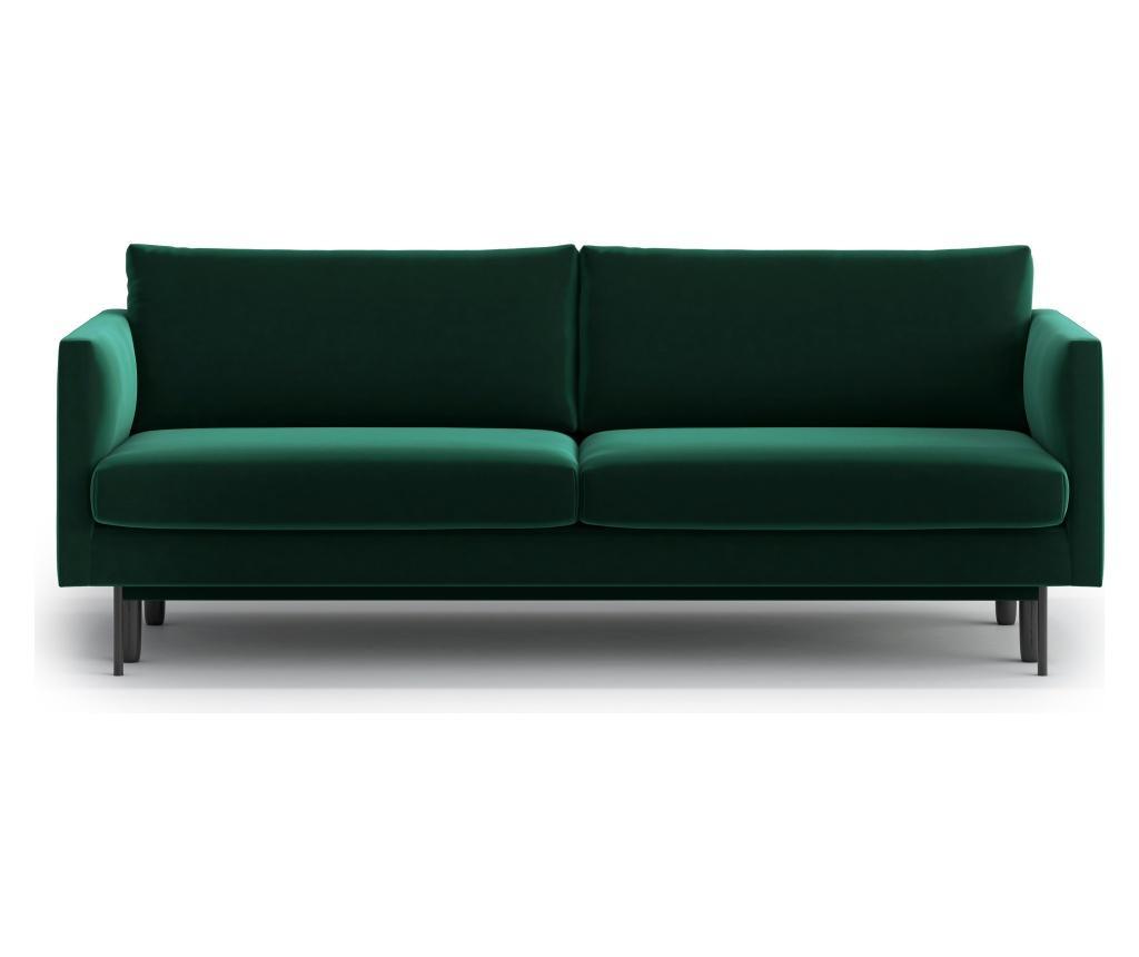 Canapea extensibila 3 locuri Svea Dark Green