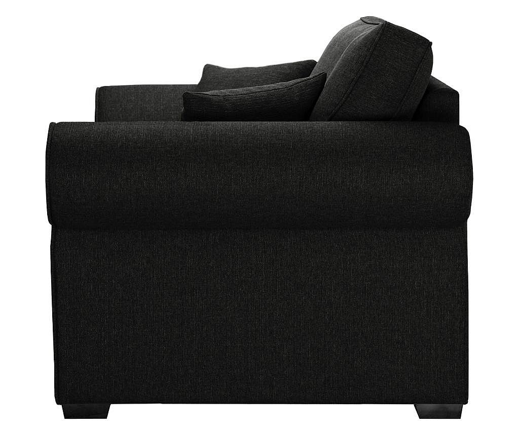 Canapea extensibila 2 locuri Ivy Black