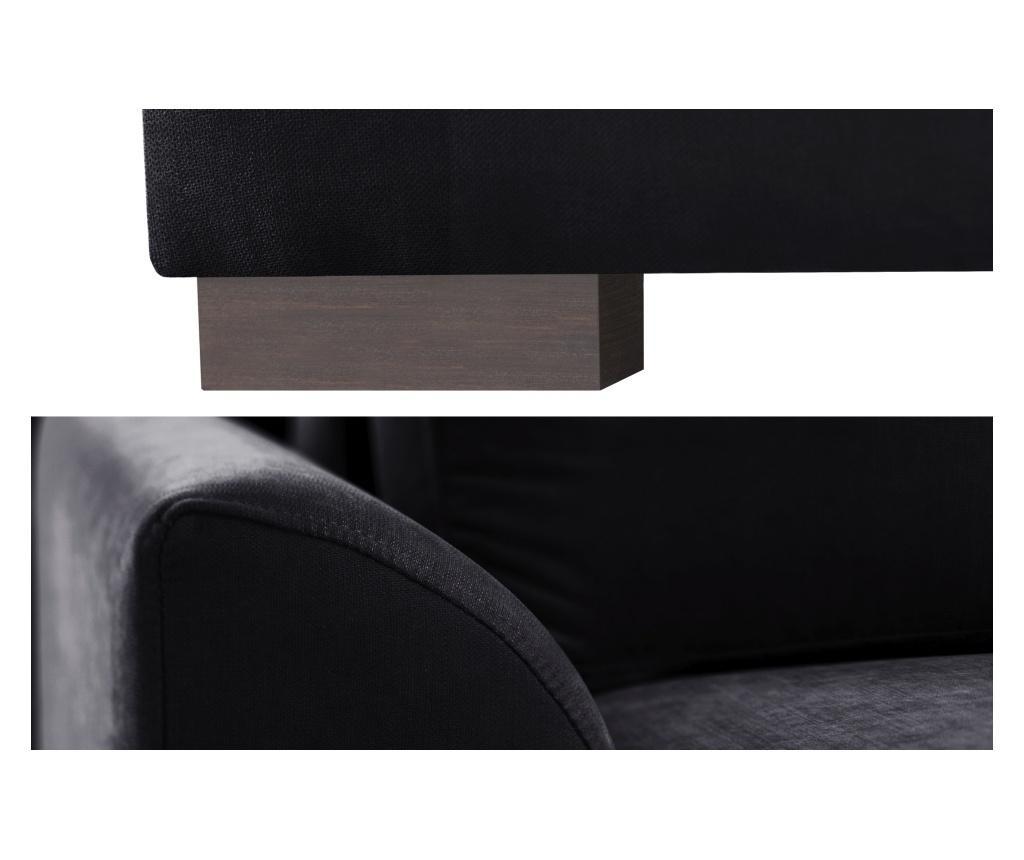 Canapea extensibila 2 locuri Irina Black