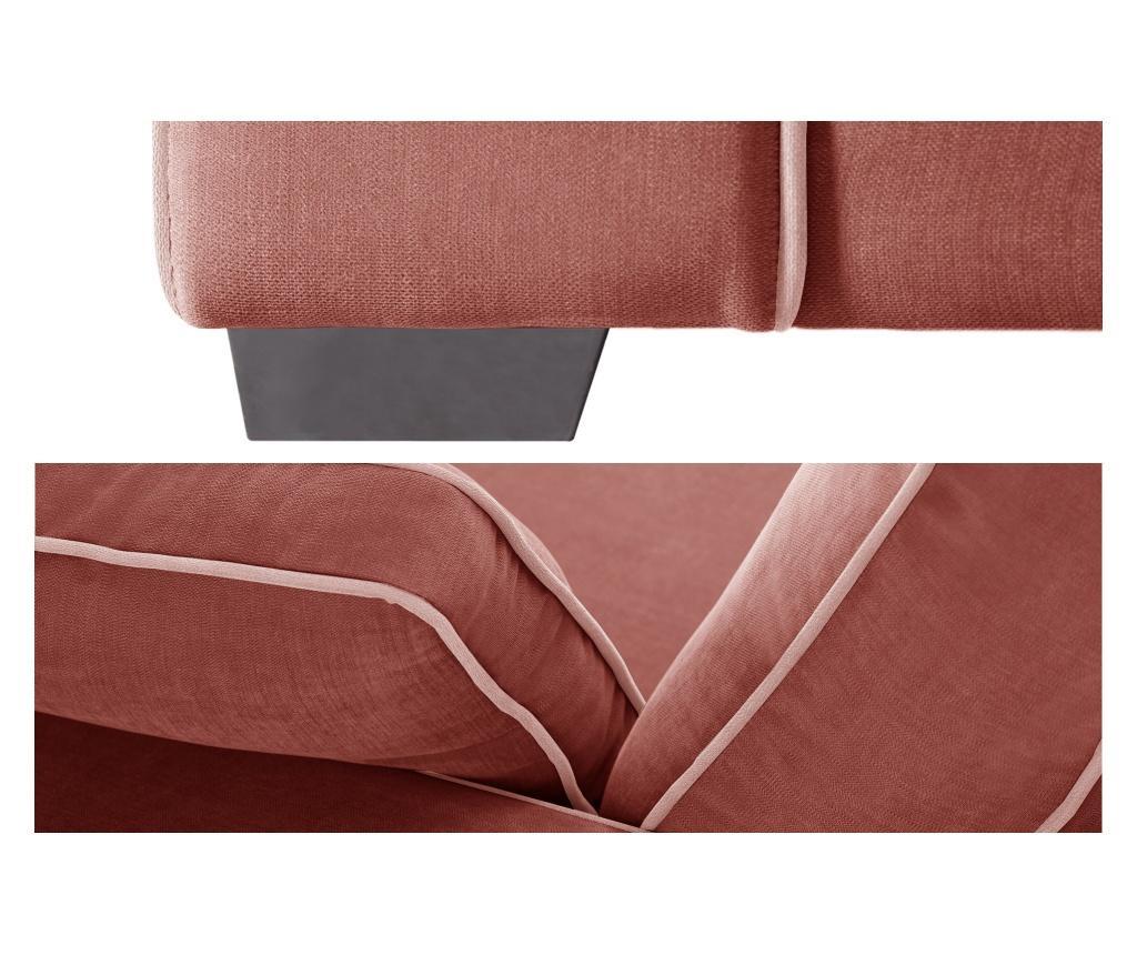 Canapea extensibila 2 locuri Serena Peach
