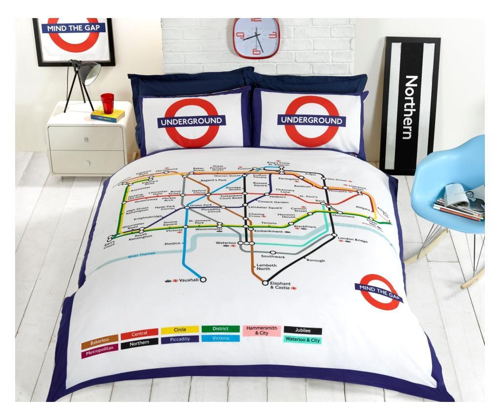 Set de pat reversibil Double Extra London Underground