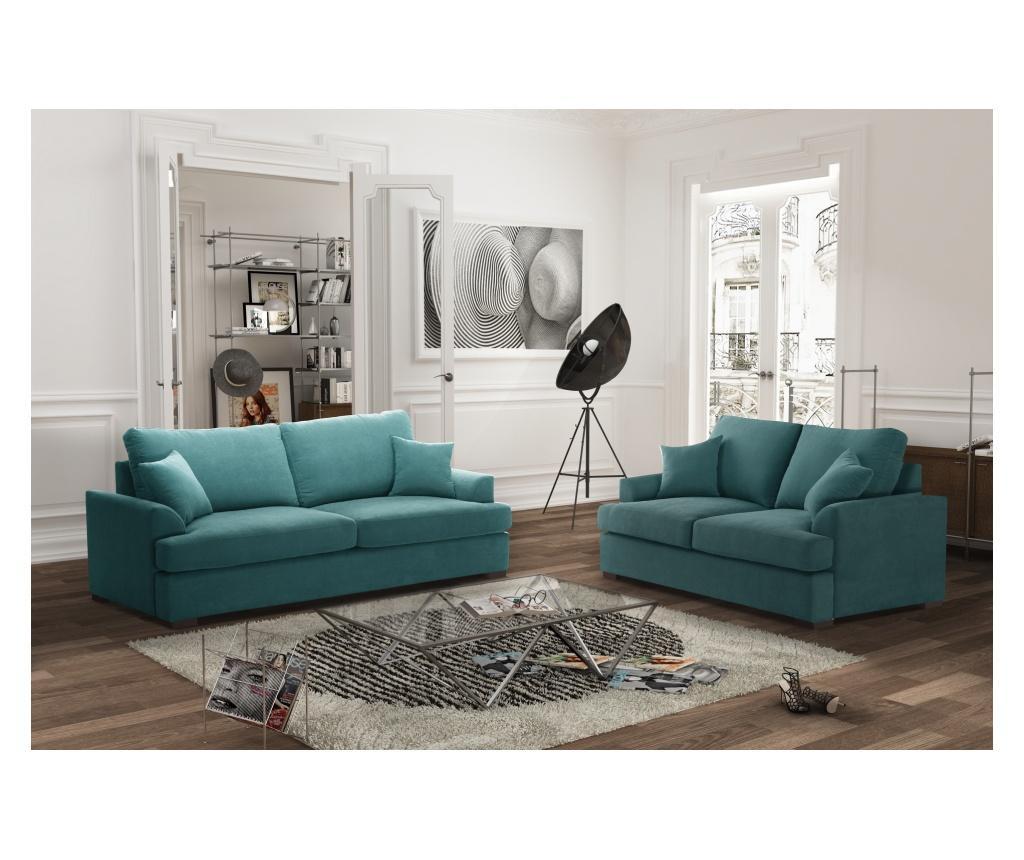 Canapea extensibila 2 locuri Irina Light Blue
