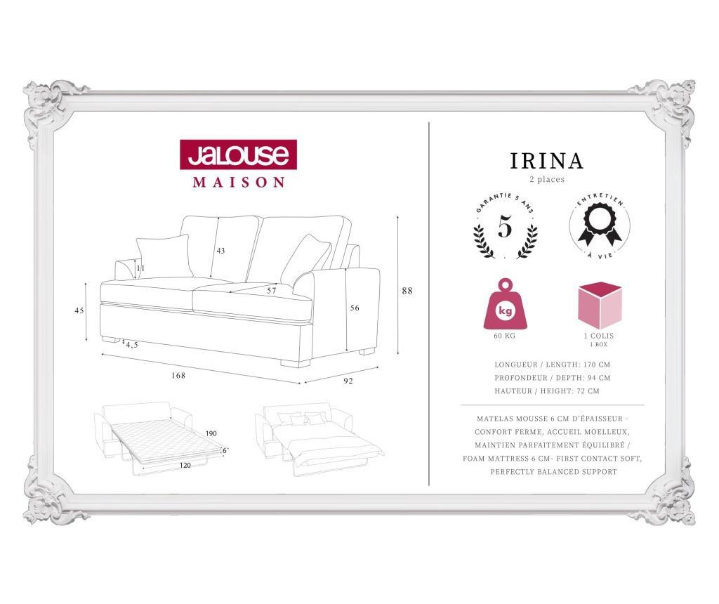 Canapea extensibila 2 locuri Irina Beige