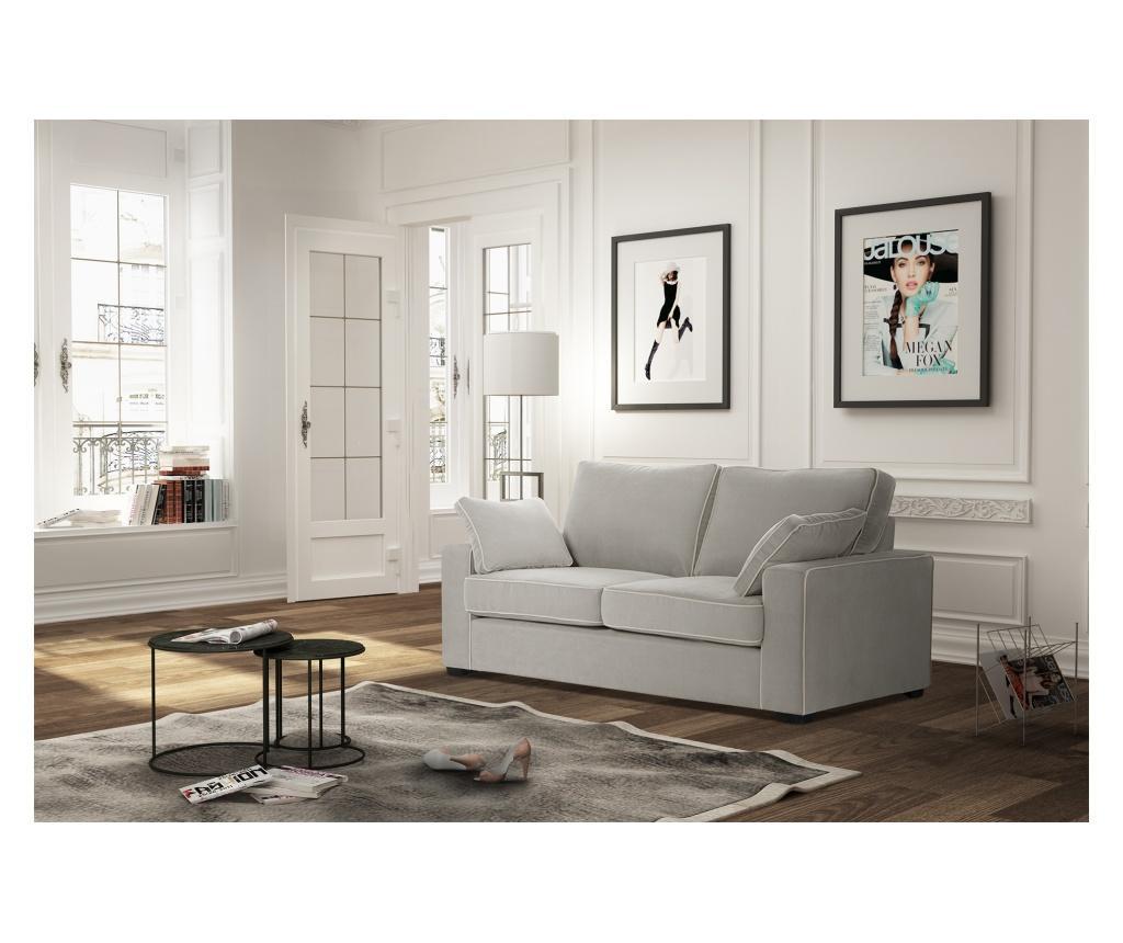 Canapea extensibila 2 locuri Serena Light Grey