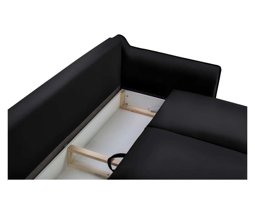 Canapea extensibila 3 locuri Basso Black