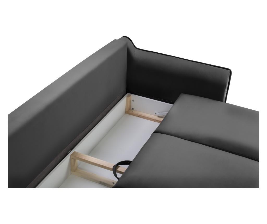 Canapea extensibila 3 locuri Basso Dark Grey