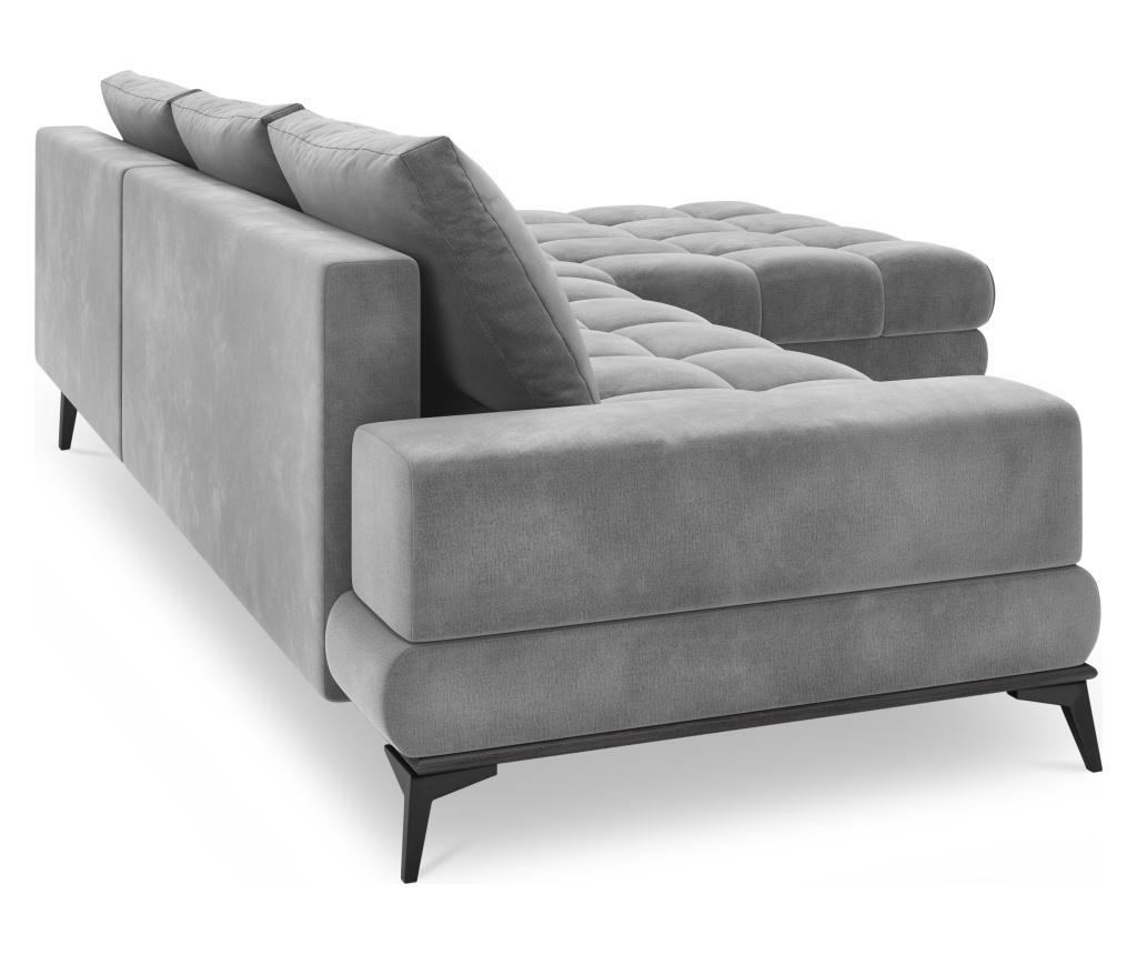 Разтегателен десен ъглов диван Deneb Light Grey