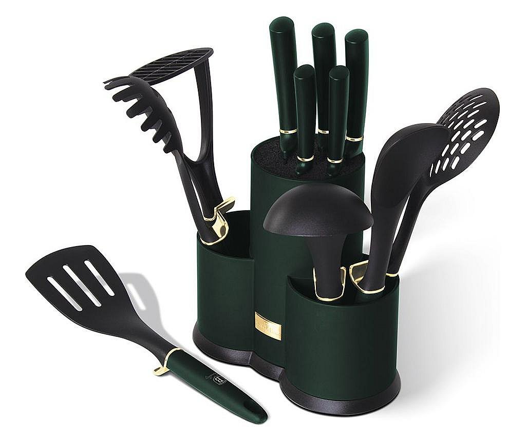 Set 12 unelte de bucatarie Emerald