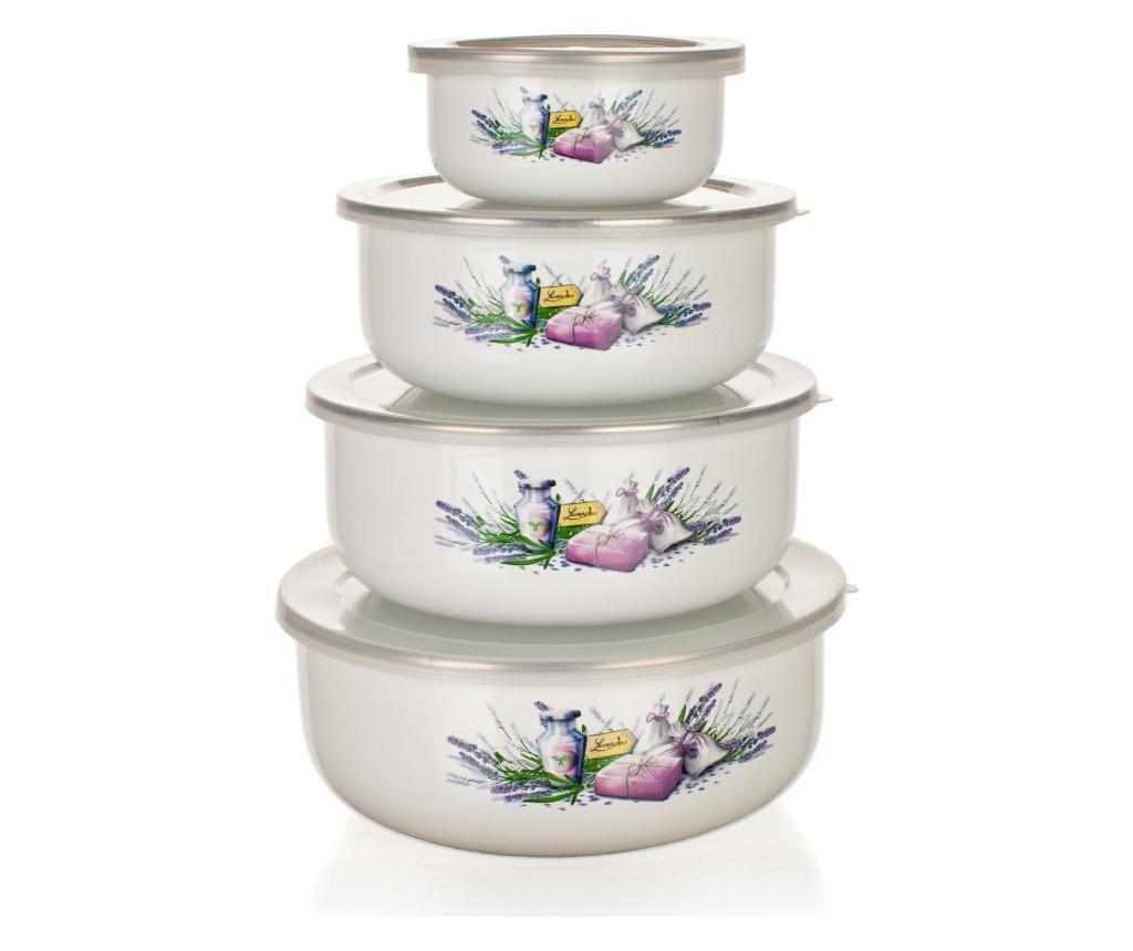 Set 4 caserole Lavender