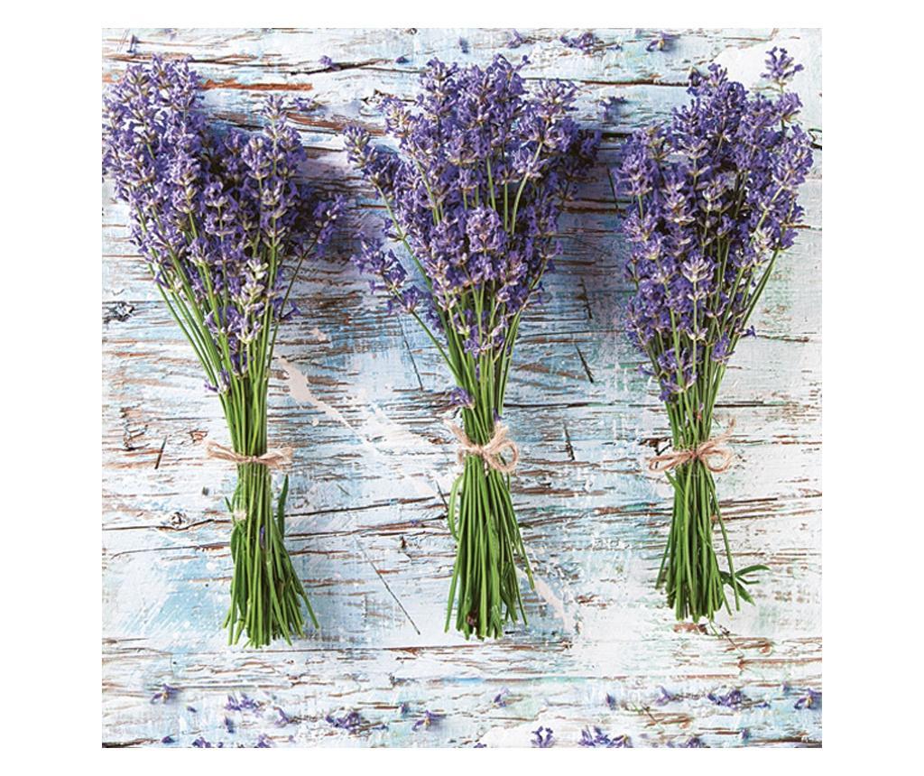 Set 20 papirnatih ubrusa Lavender