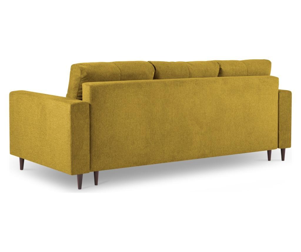 Rozkładana kanapa 3-osobowa Tempo Mustard