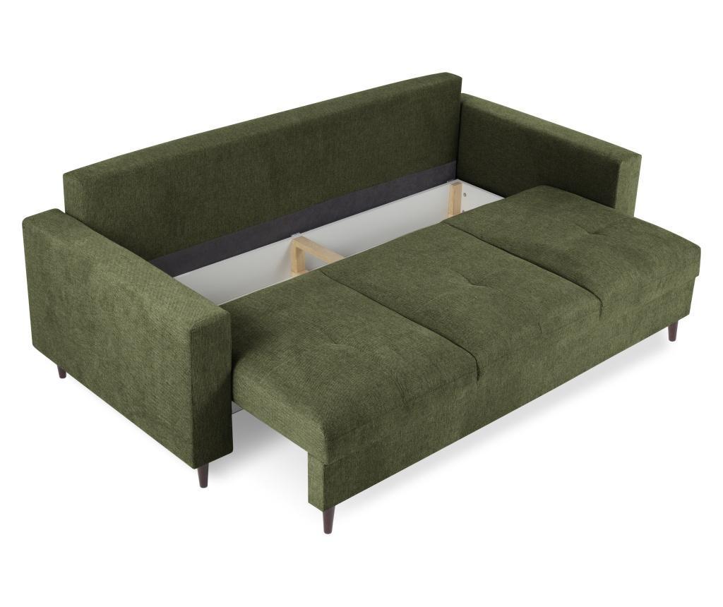 Canapea extensibila cu 3 locuri Tempo Dark Green