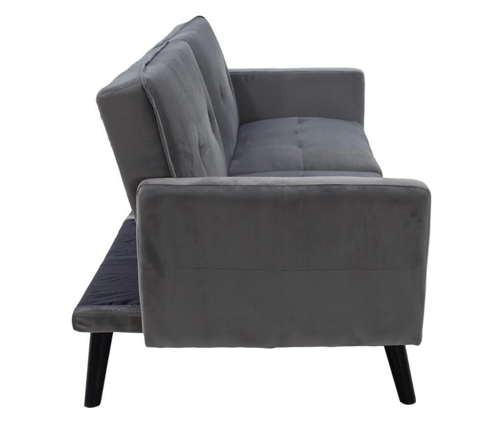 Set canapea extensibila si taburet pentru picioare Dream Grey