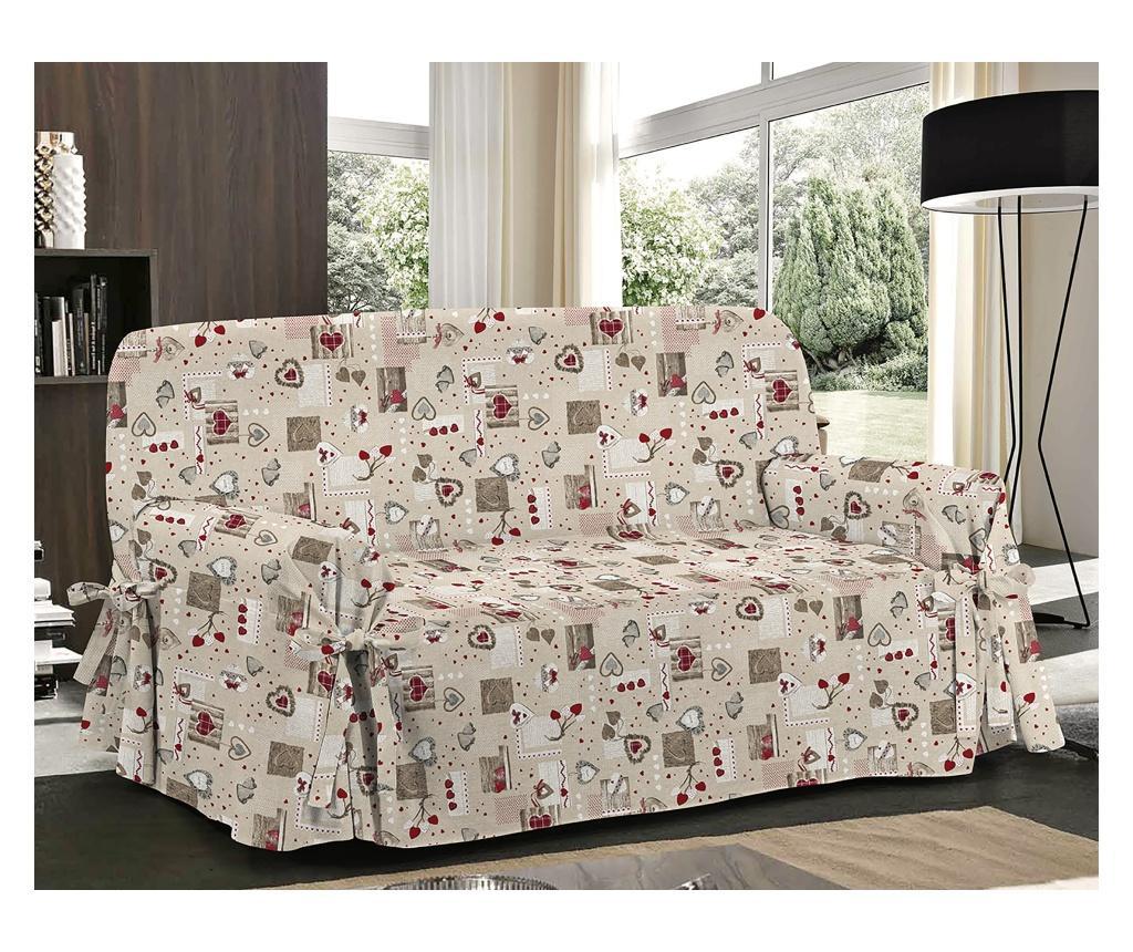 Pokrowiec na kanapę 3-osobową Holly Rosso 85x185 cm