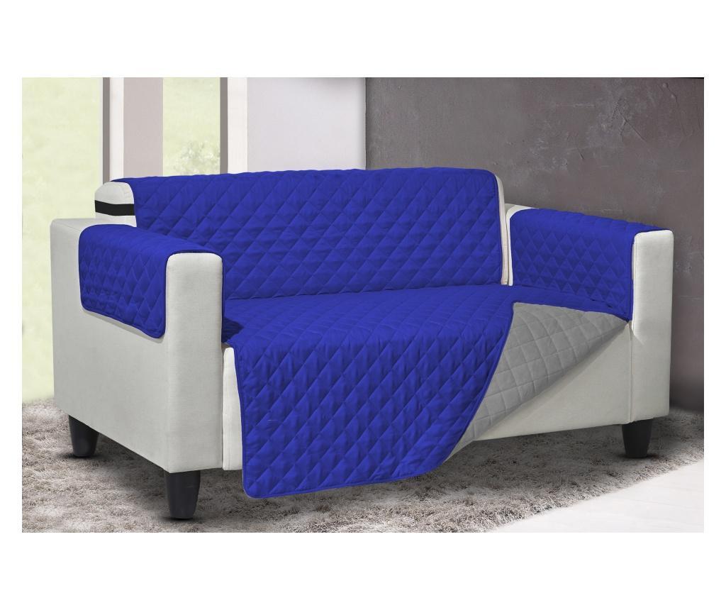 Pokrowiec na fotel Queen Reverse Blue-Grey 219x68 cm