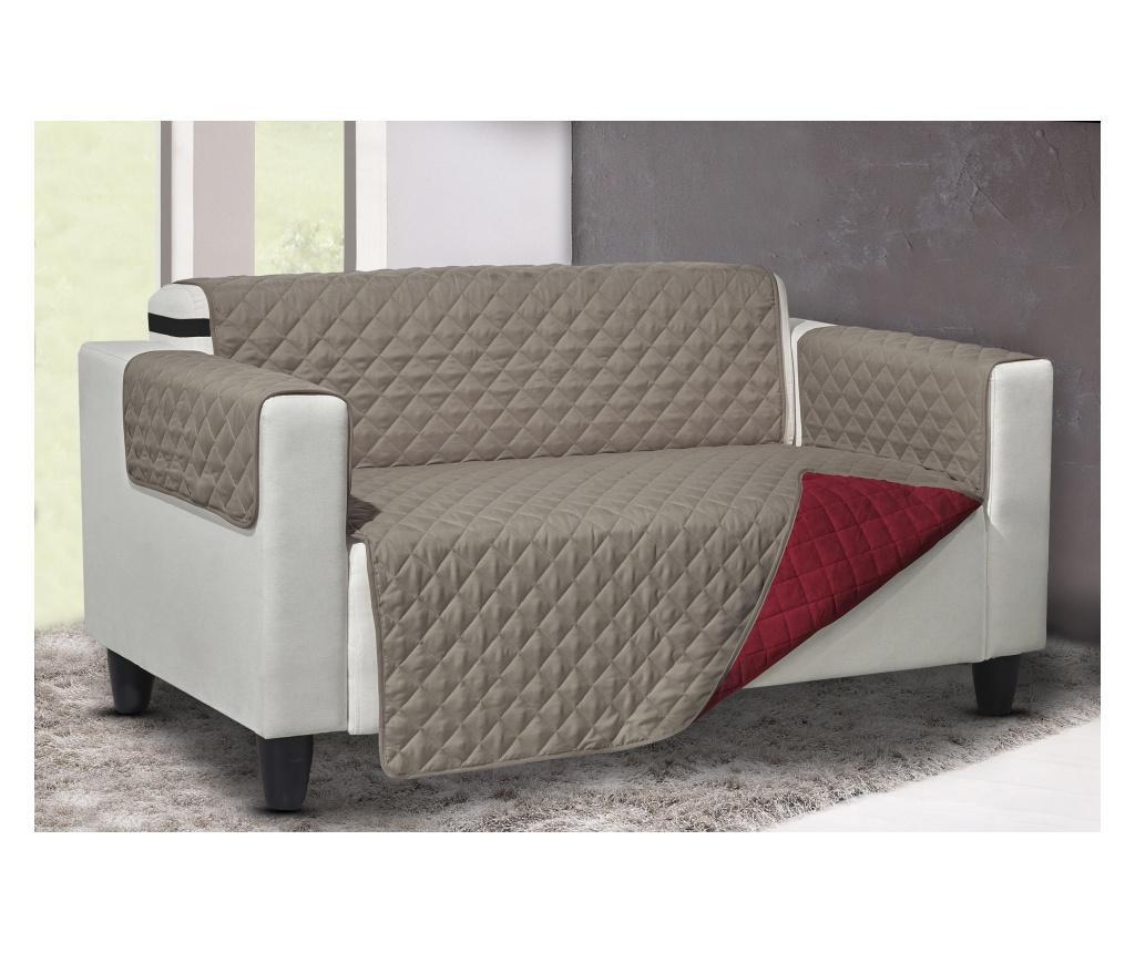Navlaka za fotelju Queen Reverse Bordeaux-Tortora 219x68 cm