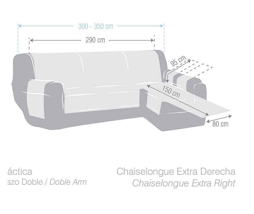 Pokrowiec na narożnik prawostronny Chenille Bordo 290x95x150 cm