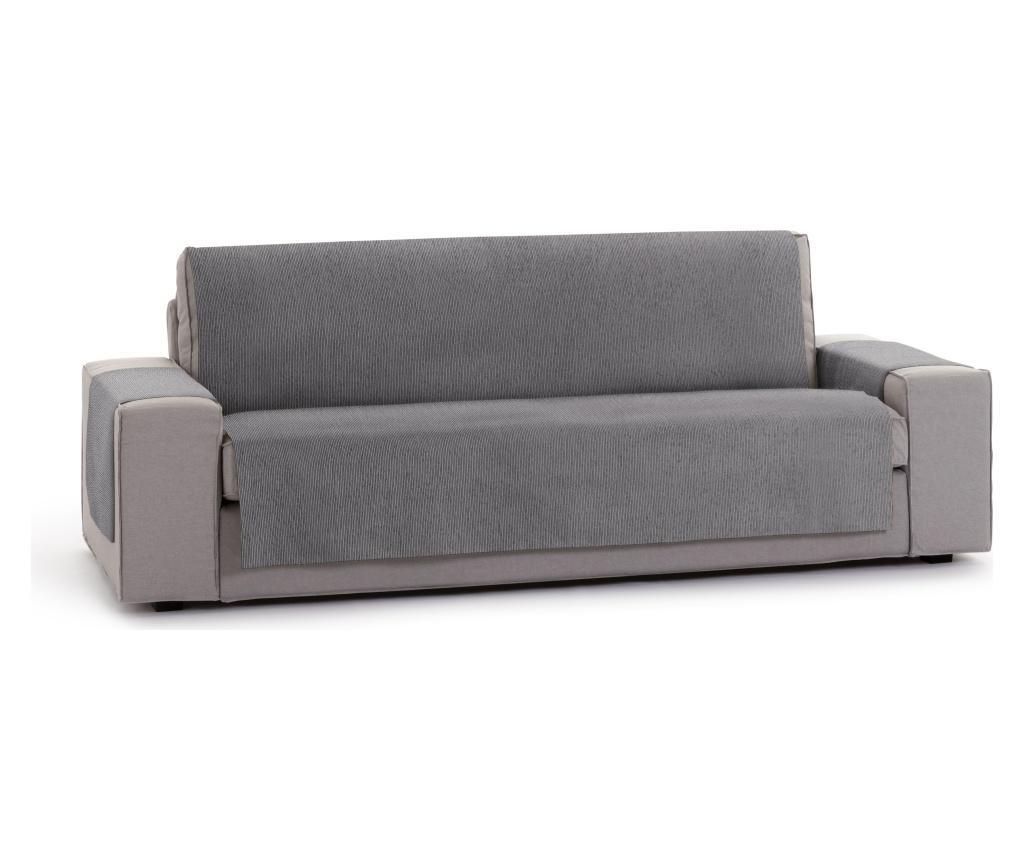 Husa pentru canapea cu 3 locuri Chenille Salva Grey 155x95x220 cm