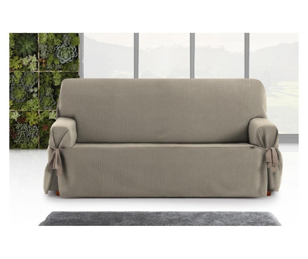 Regulowany pokrowiec na kanapę 2-osobową Chenille Ties Taupe 180x45x50 cm