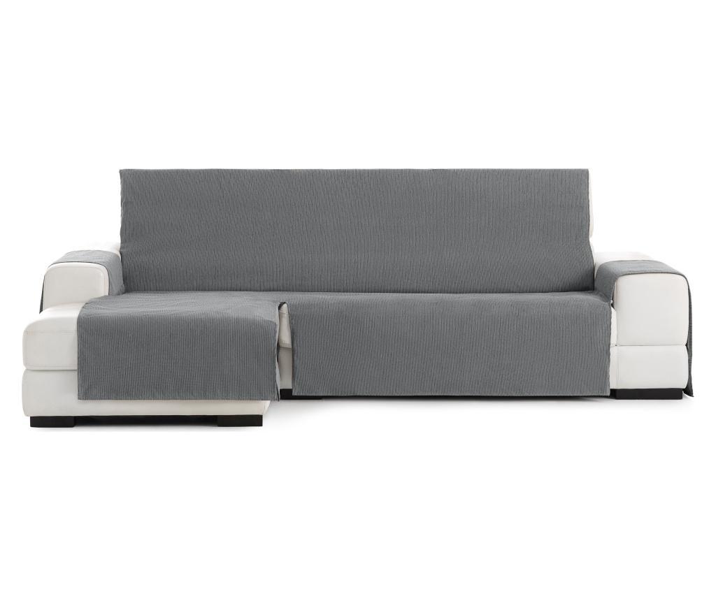 Navlaka za lijevu  ležaljku za dnevni boravak Chenille Grey 240x95x150 cm