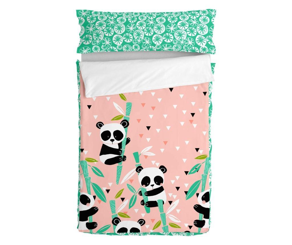 Set cearsaf de pat pentru copii Panda Garden