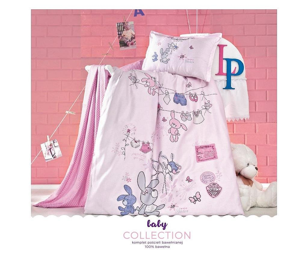 Set lenjerie de patut Cori Pink