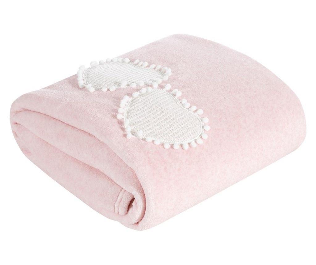 Deka Heart Pink 150x200 cm