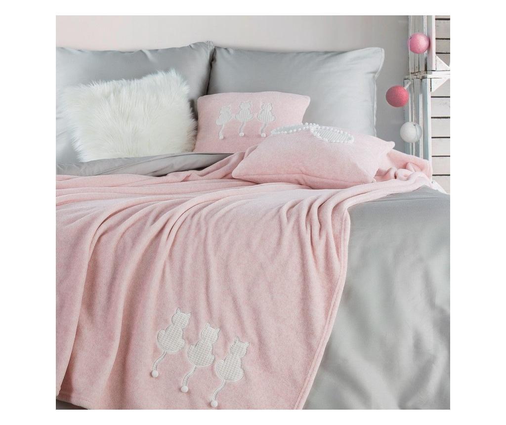 Deka Cats Pink 150x200 cm