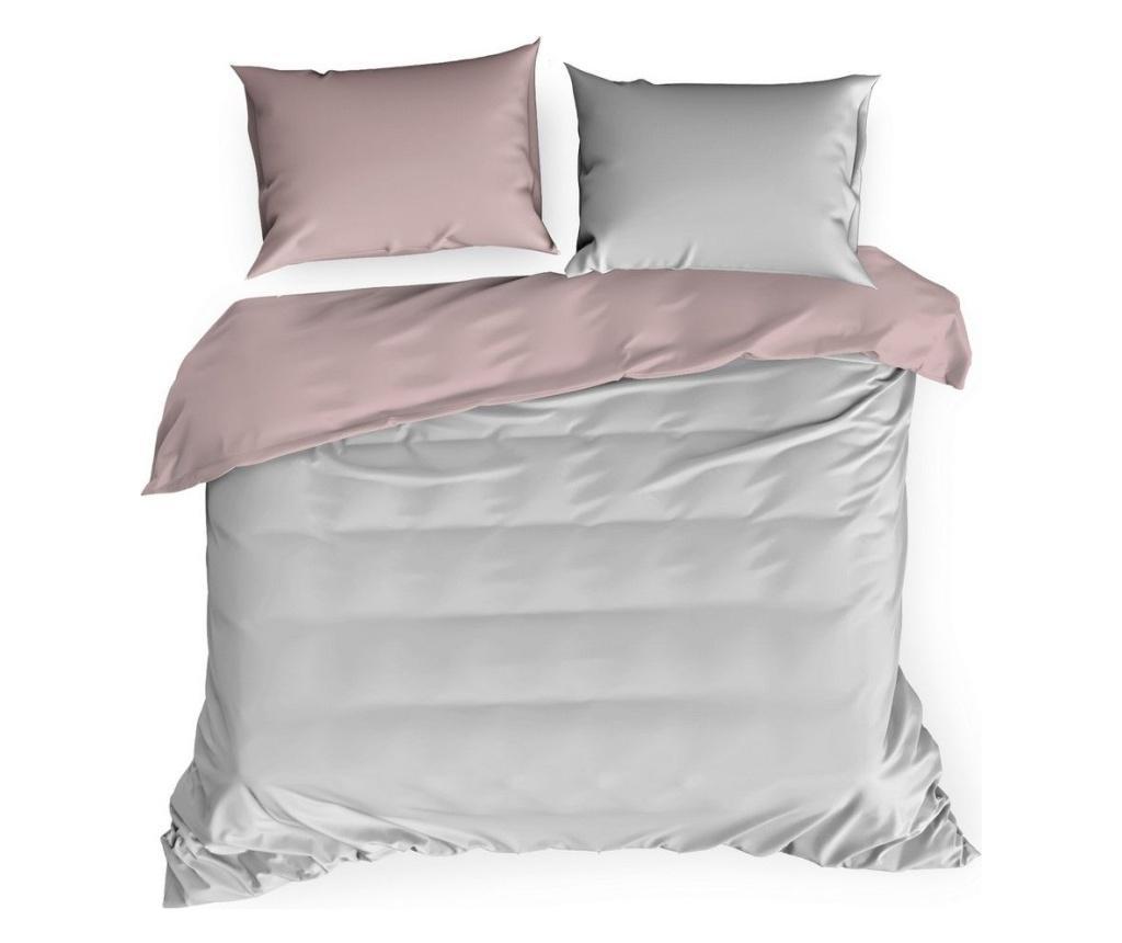 Set de pat King Satin Nova3 Pink