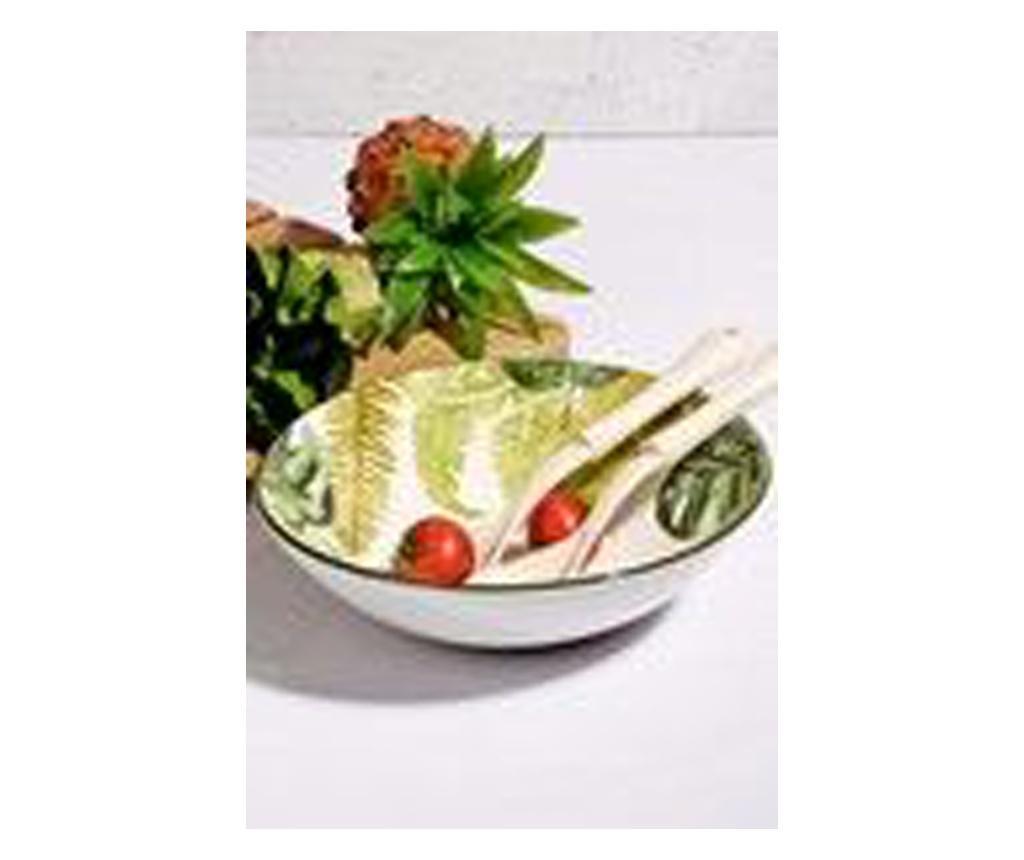 Set 2 linguri si bol pentru salata