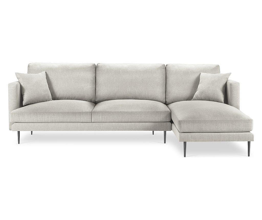 Desna kutna sofa za 4 osobe Piero Beige