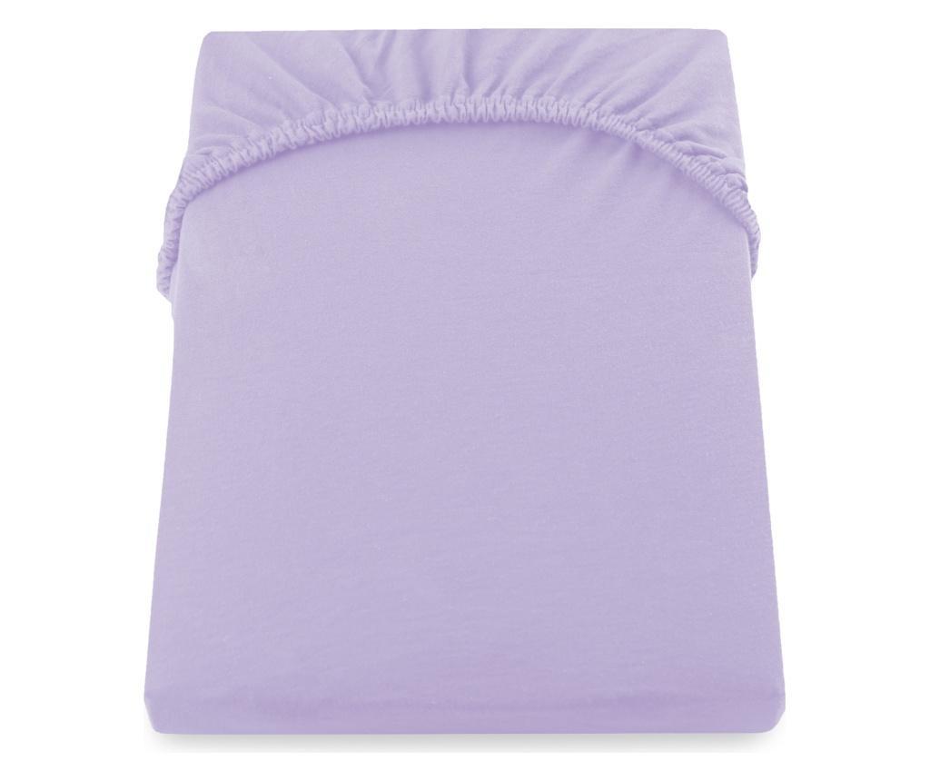 Donja elastična plahta Nephrite Violet 160x200 cm