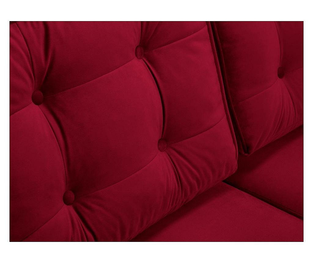 Sofa trosjed na razvlačenje Palais Velvet Red and Gold