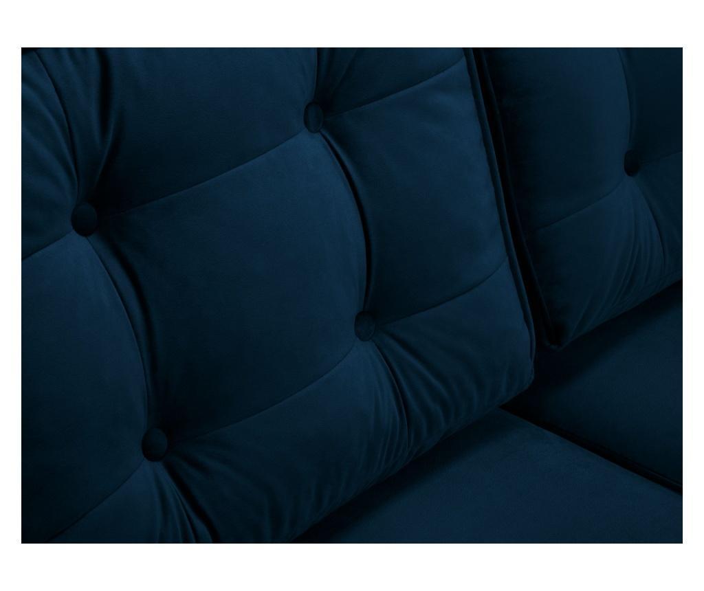 Canapea extensibila 3 locuri Palais Velvet Royal Blue and Gold