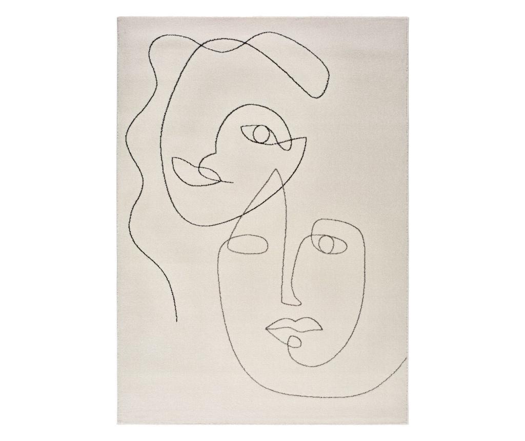 Covor Sherry White Portrait 60x110 cm