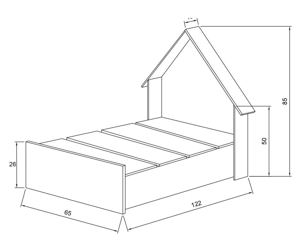 Rama łóżka Procon Montessori 60x120 cm