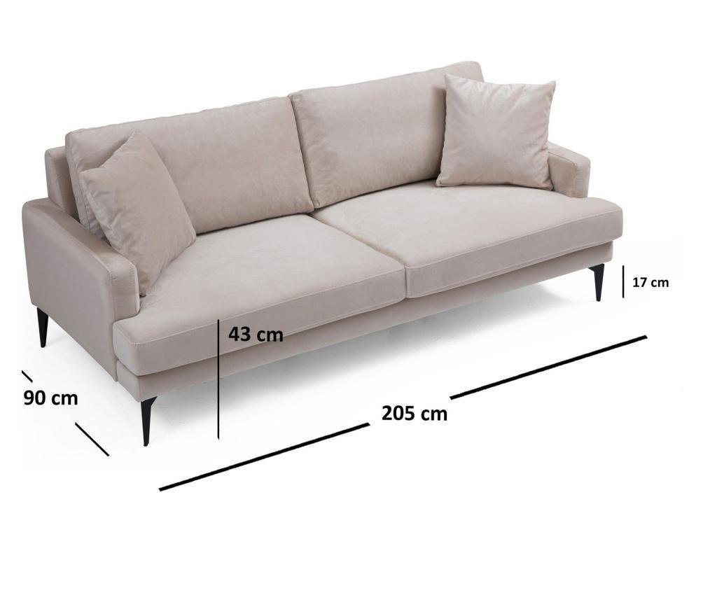 Papira Háromszemélyes kanapé