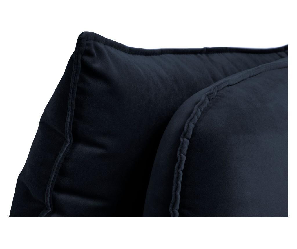 Canapea 4 locuri Lento Velvet Dark Blue