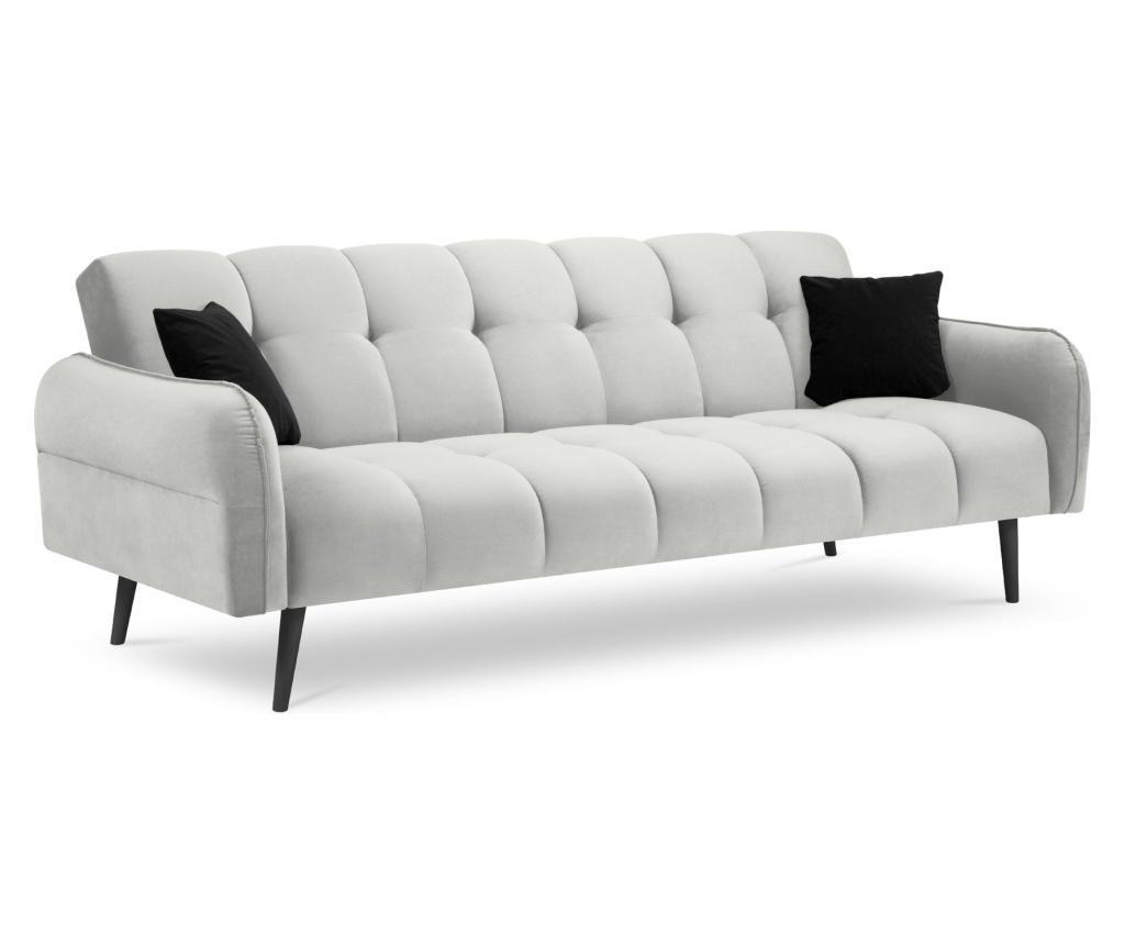 Canapea extensibila cu 3 locuri Maestro Velvet Silver