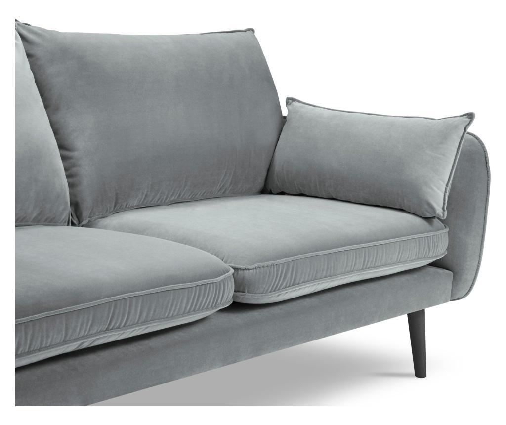 Canapea 4 locuri Lento Velvet Light Grey